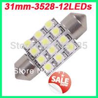 Freeshipping 200pcs/lot super bright 12 SMD 3528/1210 car festoon led C5W 31mm 36 mm 39mm 41mm car dome lamp