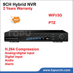 Free shipping 8CH DVR Video recorder Digital Input Hybrid NVR 8CH CCTV DVR 4*D1 analog +4*D1 digital 9CH alarm input TPHVR-4009(China (Mainland))