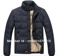 hot selling men's down & parkas, thickened men's down jacket, high quality and fashion white duck down pure colors