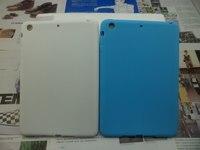 Wholesale Mix Colors for ipad mini case, For Mini iPad  flat Silicone Soft Skin Case Cover Free Shipping 100pcs/lot