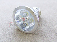 NRG 10 pieces 4w Base Spotlight Bulbs Lamp E27 LED Downlights Warm White SAK 4 For Free