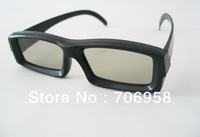 Free shipping!Hot Sale 4pcs/lot  circular polarized 3d glasses,Polarized 3D glasses,No flash 3D TV glasses High quality