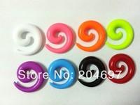 Mix 120pcs 2-8mm UV Acrylic Spiral Taper Ear Stretcher Expander Plug Flesh Tunnel Body Piercing Jewelry Wholesale Free Shipping