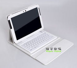 For samsung galaxy tab 2 10.1&quot; inch p5100 leather case cover with wireless bluetooth keyboard free shipping 4color available(China (Mainland))