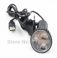 USB Plug Clip-on 3 LED Light Lamp for Laptop Black