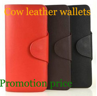 100% Genuine leather long purese for women leather wallets for men lowest price for free shipping