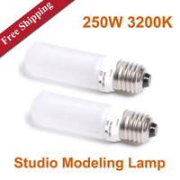 220V 250W 3200K Photo Studio Light Modeling Lamp for Flash Jinbei/Godox/NICE/Bowens Photography bulbs  x 2