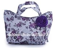fahion bag free shipping sand bag  shopping bag and fashion bag print flower with rose