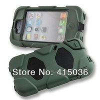 100pcs/lot DHL freeshipping triple protective tough cover case for iphone 4 4s,w/clip & retail package