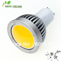 Free EMS/DHL 100 Pcs//lot  GU10 4W Warm White / Cool White COB LED Light Bulbs 110-240V
