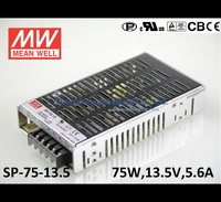 Mean Well 75W 5.6A 13.5V Single Output Switching Power Supply SP-75-13.5 CE UL TUV CB wholesale Built-in active PFC function