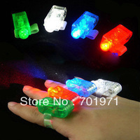 Free Shipping 100PCS/Lot LED  Bright Finger Ring Lights Beams Ring Torch 4 Colors kids toys For Party   celebration