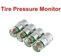 Free shipping,(4pcs/set) Tire Pressure Monitor Indicator Valve Stem Cap Sensor 3 Color Eye Alert,Pressure Tester for car