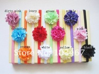 12sets/lot 9 colors for your choosen rose flower headband whole sale best price