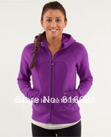 Hot sale Lulu scuba hoodie Lady Sport  Jacket yoga wear coat Women hoodies fashionable popular purple clothing clothes