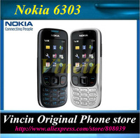 Original Unlocked Nokia 6303 mobile phone black and silver color for you choose Refurbished
