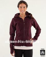 lulu hoodies scuba Lady Sport Athletic sweater yoga wear coat Women's hoodies fashionable popular brown coffee clothing clothes