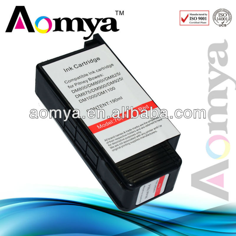 Compatible Pitney Bowes Bule ink cartridge DM800/DM800I/DM825/DM875/DM900/DM925/DM1000/DM1100 (OEM Code 766-8) Bule(China (Mainland))