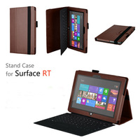 100pcs/lot Free shipping New arrival high quality Magnetic stand Leather Case for Microsoft Windows surface RT 10.6""