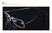 RIMLESS FLEXIBLE TEMPLE LIGHT 6G Eyeglass Frames Glasses Optical Eyewear Prescription Spectacles