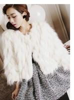 XJW015 Fake Fur Coat Fashion Fur Coats Women 2014