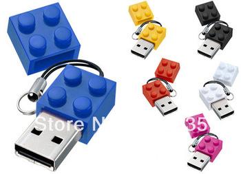 Free Shipping Building Blocks USB Flash 2.0 Memory Drive Sticks Pen Disk 4GB 8GB 16GB 32GB 64GB