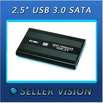 "2.5"" USB 3.0 SATA External Hard Drive HD Enclosure Case Box + USB Cable Portable"