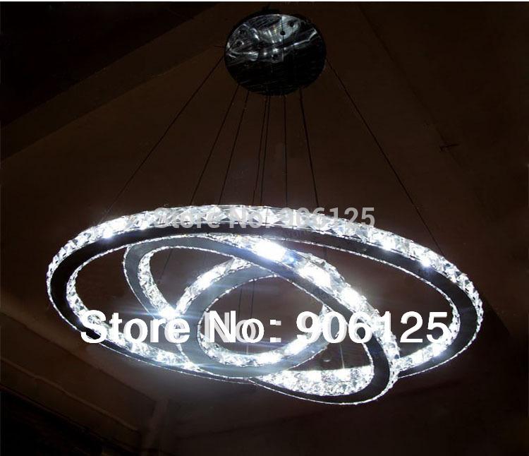 Nuovo moderno lampadario di cristallo portato lampada di illuminazione ...