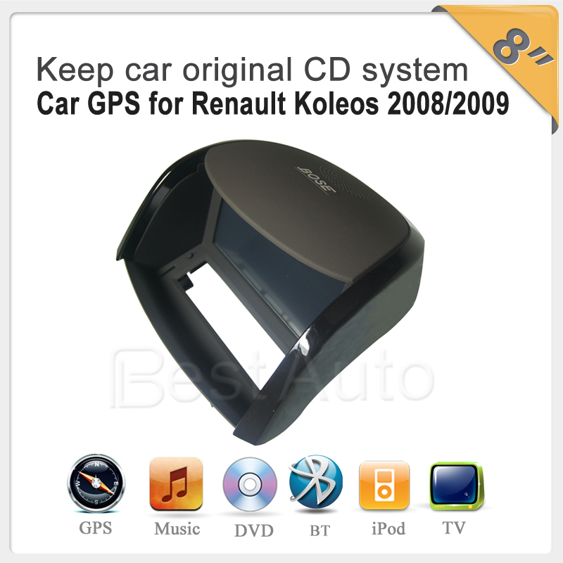 "car radio player 8"" Car GPS with BT USB player car radio video audio dvd gps player for Renault Koleos (2009-2010)(China (Mainland))"