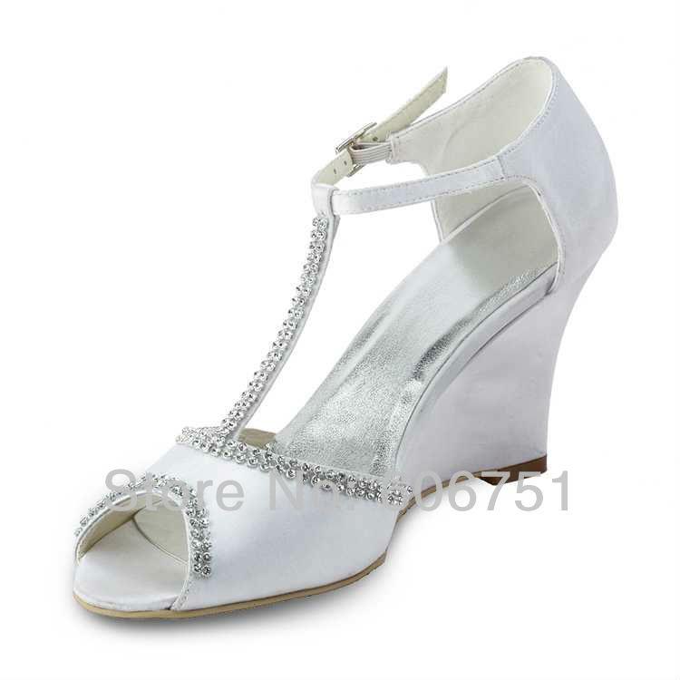 White Wedge Heel