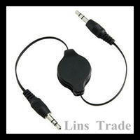 Free shipping New 10PCS/Lot 3.5mm audio cable stereo flexible connecting cord male to male retractable auxiliary line #8118