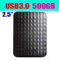 Free Shipping Orginal Samsung 500g mobile hard disk 2.5 hard drive disk M3 500gb USB3.0-Black