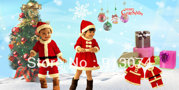 Hot Sale Christmas Gift Baby Romper + Hat Kids Christmas clothing Cotton Boy and Girl Sanda girl Sanda dress Masquerade