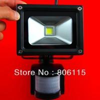 Free Shipping,50pcs/lot,10W/20W/30W/50W PIR floodlight LED 120-130lm/w 20w PIR flood light, Black shell 20w PIR led flood light,