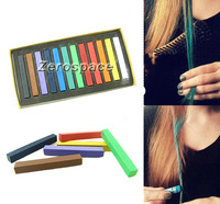 New 12 Color Hair Chalk Non-toxic Temporary Salon Kit Pastel in Box