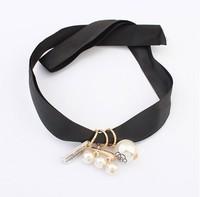 Latest fashion design European fashion pear Necklace