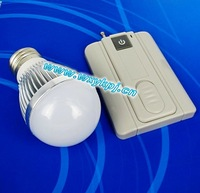 Free shipping factory wholsaler 3W led Bulb lamp with 1 key remote control in 100m