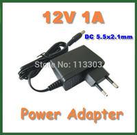 5pcs Universal AC 100-240V Converter Adapter to DC 12V 1A Power Supply Adapter EU Plug