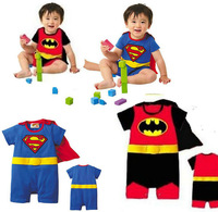 Baby girl & boys Summer SuperMAN Romper jumpsuit bodysuits baby outfits baby clothing 4pcs/lot