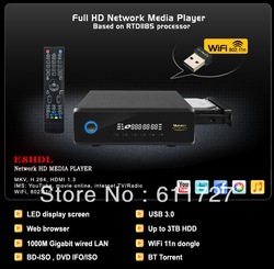 Measy E8HDL RTD1185DD Full HD 3D Network Media player 3.5&#39; HDD Player 1000M Gigabit Lan BT Torrent Blue Ray+USB 3.0 Cable(China (Mainland))