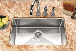 "North America standard new 31"" undermount big Single bowl sink with 10mm radius corners DSB-545(China (Mainland))"