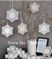 Free shipping Snowflake Tag