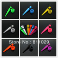 Hot wholesale solid colors piercing 180pcs teper+160pcs tunnel mixed gauges UV acrylic ear expander tunnels set free shipping