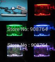 L022# Aquarium lamp plant grow lamp daylight  2*20cm 12 bulbs   fish tanks LED light Free shipping HongKong post mail