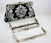 Free Shipping  8 inches (20cm) Silver Clutch Purse Frame