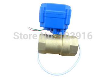 10 units motorized ball valve DN15, 2 way, electrical valve