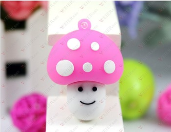 M-164 Wholesale Enough Cartoon Cute Pink Mushroom head 4GB 8GB 16GB 32GB 64GB USB 2.0 Flash Memory Stick Drive Thumb/Car/Pen