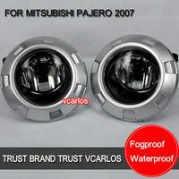 Free Gifts + Free Shipping Car Fog Lamp for MITSUBISHI PAJERO 2007~ON Clear Lens PAIR SET + Wiring Kit