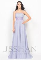 11P057 Classics Spaghetti Strap Waist Beads Chiffon Empire Elegant Unique Gorgeous Luxury Prom Evening Dress Long Prom Dress