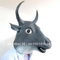 Creepy Cow Mask Head Halloween Mask, Buffalo Mask